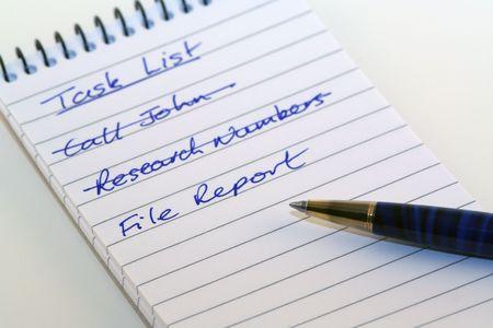 todo: bloc-notes et stylo - une liste de choses � faire Banque d'images