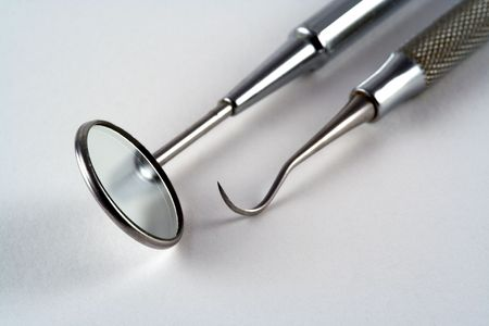 Tools used by a dentist Stock Photo