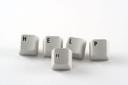 Help spelt out in Computer Keys