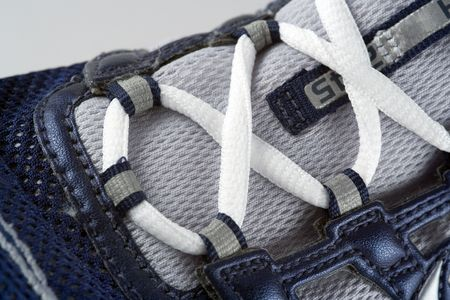 Closeup of running shoe laces Stock Photo - 389731