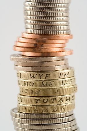 dosh: A tower of British coins