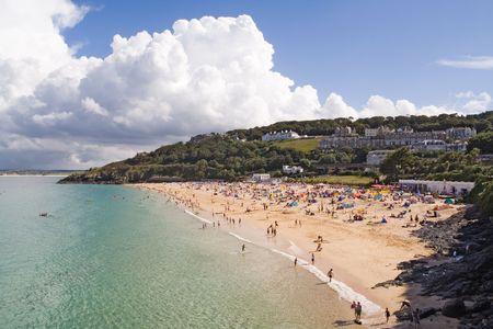 cornwall: Porthminster beach in St Ives, Cornwall