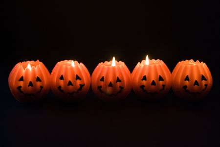 Spooky candles Stock Photo