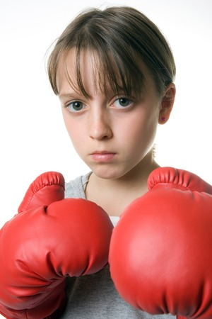 A young girl taking up boxing for self-defence Stock Photo - 1676629