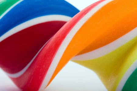 Closeup of a swirling candy lollipop Stock Photo