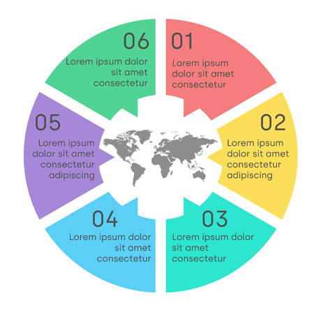 Business pie chart template for graphs, charts, diagrams, Business circle infographic concept