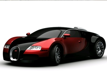 Car red and black business concept