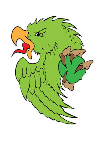 Green parrot Vector