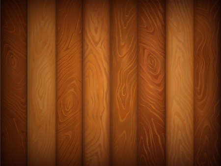 Wood texture brown and honey color vertical. Wooden background. Vector illustration can be used for backgrounds, web design or surface textures. Stock Illustratie