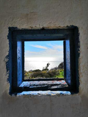 Tiny Greek Window, Rhodes, Greece