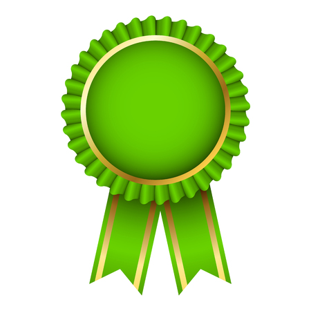 Award Ribbon Rosettes Label. - Vector