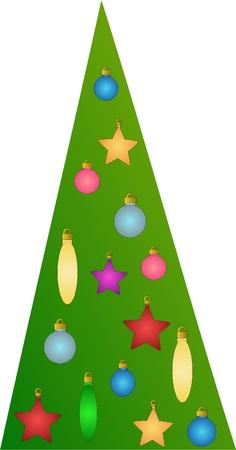 decorated christmas tree: Decorated Christmas tree Illustration