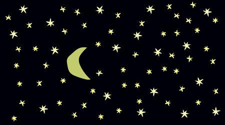 night: A night sky Illustration