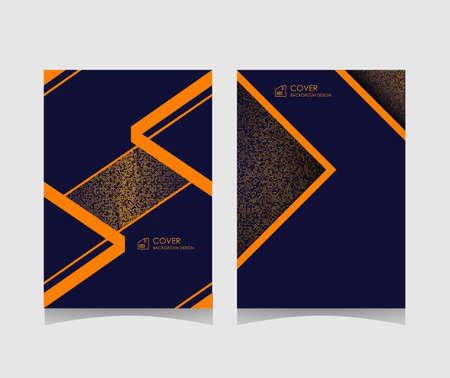 luxury cover background template. elegant minimalist design style with elements of gold on a dark background. vector illustration. Illusztráció