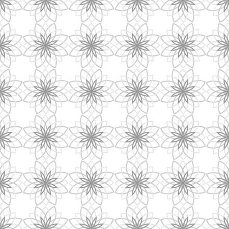seamless pattern background template. abstract design geometric star flower shape with gray color.