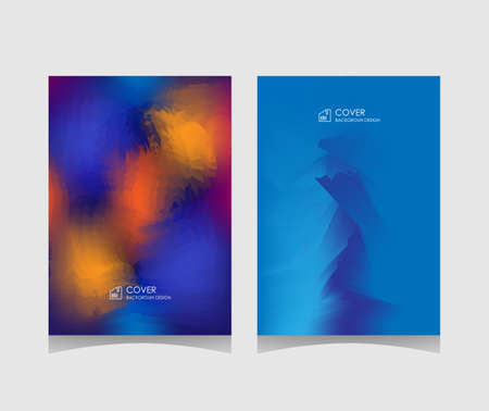 blue cover. Minimalistic gradient abstract background design, ice blue color