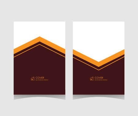 Simple cover background template. elegant minimalist flat color design. vector illustration. Illusztráció