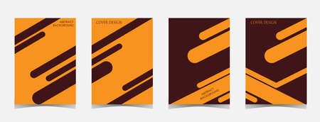 minimalist cover collection. minimalistic geometric abstract design. vector illustration.