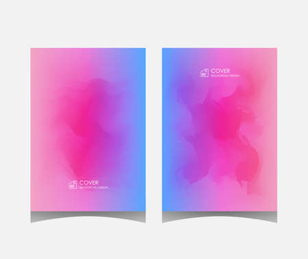 Cover or leaflet template, abstract background design with overlapping colors. eps 10