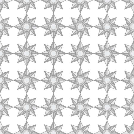 seamless pattern background. abstract design geometric star flower shape with gray color
