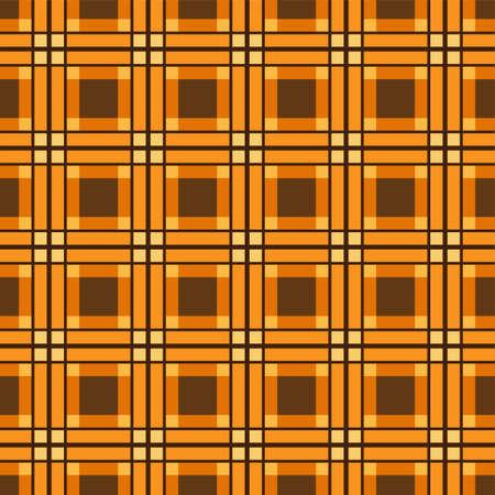 Seamless abstract pattern background. grid pattern design with brown background. Illusztráció