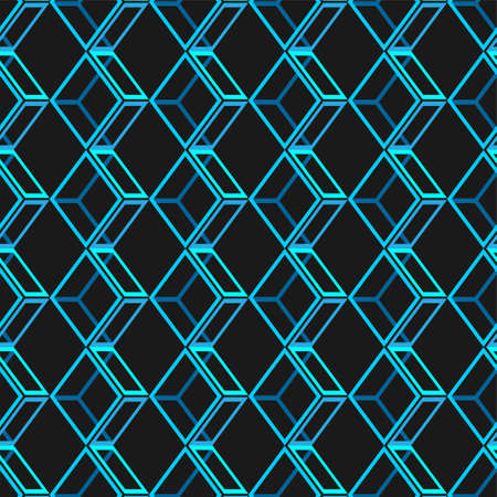 Seamless abstract pattern background. pattern design with blue elements on black background.