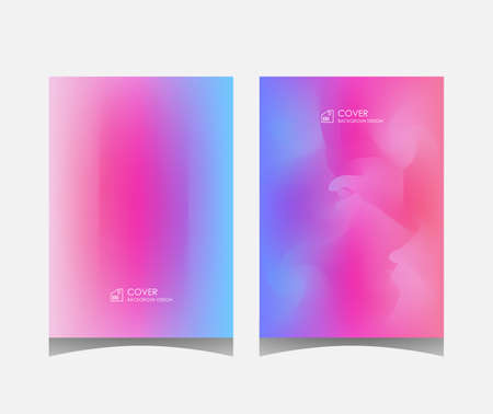 Cover or leaflet template, abstract background design with overlapping colors. Illusztráció