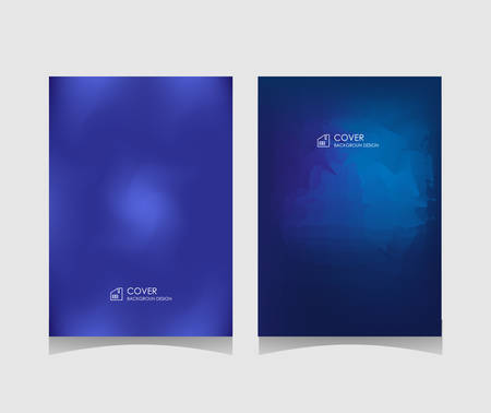 cover or leaflet template in blue. Minimalist mesh gradient abstract design, vector illustration.