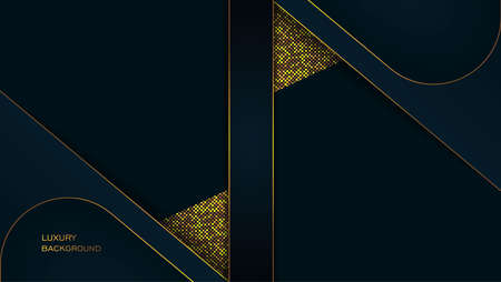 Abstract of modern folding cover design with dark and glitter colors.