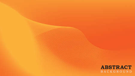 Wavy Abstract Background. Yellow and Orange Gradient Mesh Design