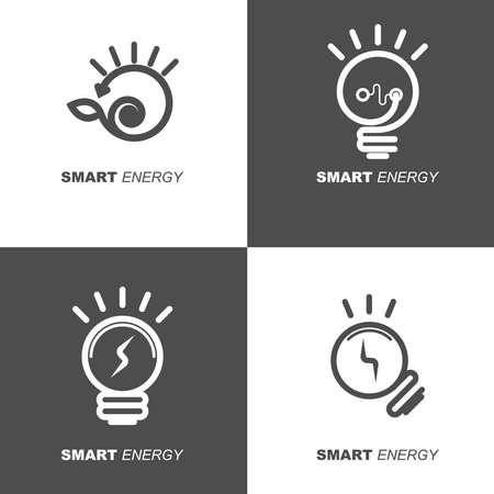 smart electric icon collection. simple concept of thick line design. Illusztráció