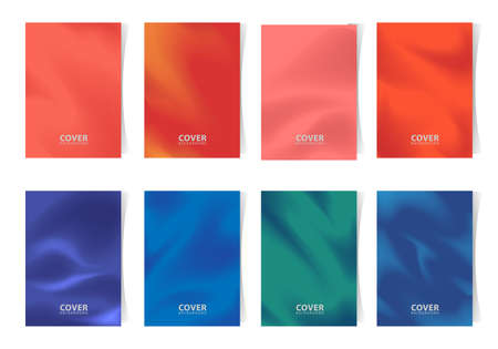 Minimalist cover collection, abstract background with gradation colors. vector template design.