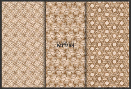 collection of seamless pattern backgrounds. geometric pattern design art for decoration, wrapping, wallpaper etc.