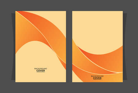 abstract covers with orange gradient elements, layout designs for annual events, brochures, folders, documents, etc.