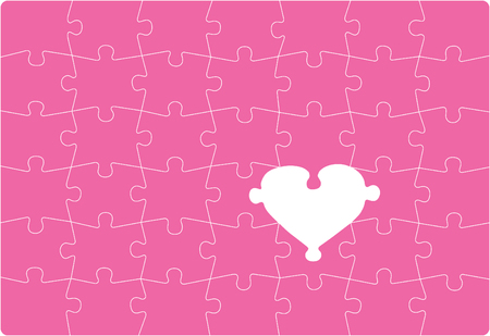Missing Love - love themed puzzle Vector