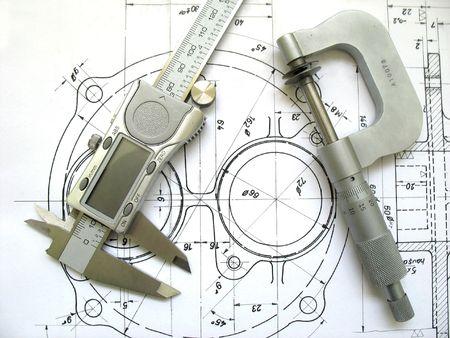 dibujo tecnico: Ingenier�a 3  Foto de archivo