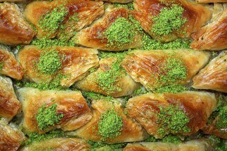 baklava: Baklava - Traditional sweet Middle-Eastern dessert.