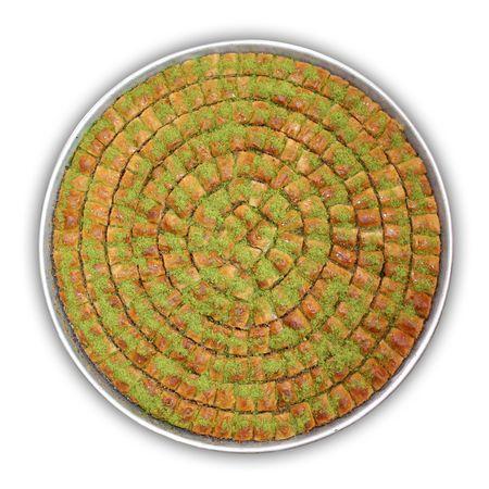 baklawa: A tray of Baklava. Traditional sweet Middle Eastern dessert.