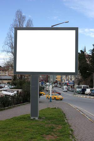 Blank Billboard with sky Stock Photo - 4334702