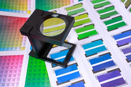 publish: Magnifying Glass on Color Swatches Series