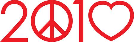 simbolo de la paz: 2010 No hacen la guerra logotipo del amor