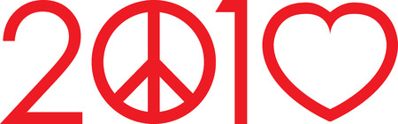 peace concept: 2010 Not war make love logo