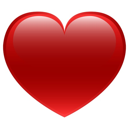 seasonal symbol: Red Heart vector Illustration