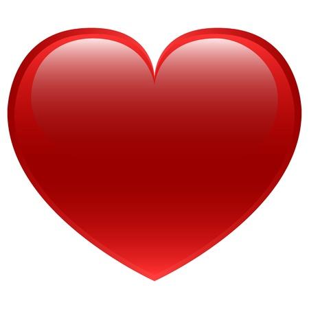 jednolitego: Red wektor serca