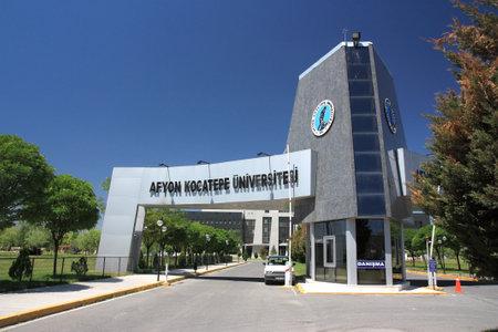 Entrance of Afyon Kocatepe University, Afyonkarahisar, Turkey Editorial