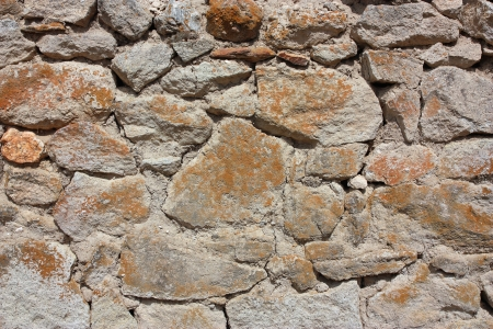 Old stone wall background horizontal Stock Photo
