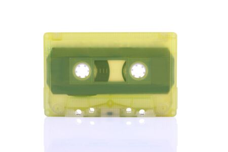 Compact Cassette isolated on white  Including clipping path