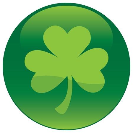 Shamrock with tree leaf icon  Illustration