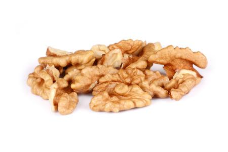 Group of Cracked Walnut isolated on white background Stock Photo