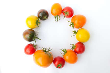 Colorful tomatoes Stock Photo